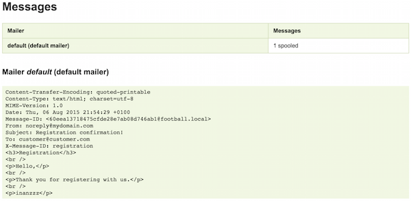 inanzzz | Sending emails with Swiftmailer and Mailtrap in symfony