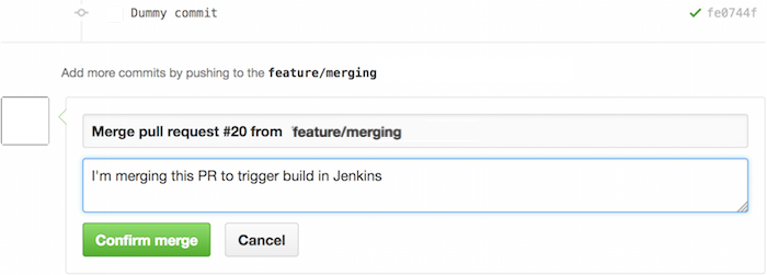 inanzzz | Setup GitHub and Jenkins integration for pull